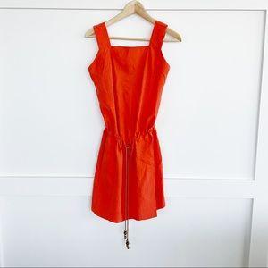 Diane von Furstenberg Silk Tank Dress Orange Small